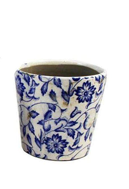 U at Home Blue Ceramic Flower Pot (3)