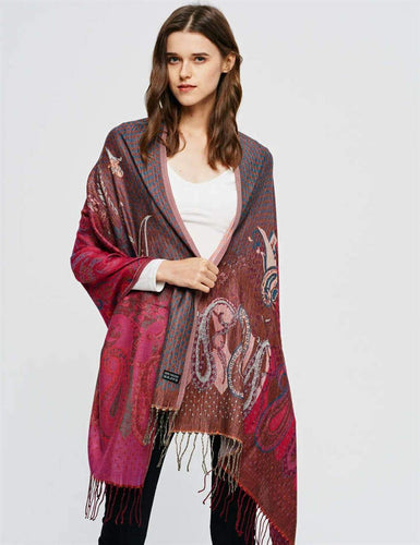 U at Home Burgundy Pashmina