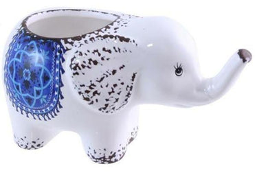 U at Home Ceramic Elephant Planter- Blue