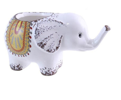 U at Home Ceramic Elephant Planter- Orange