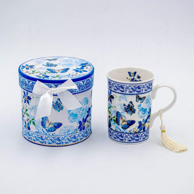 U at Home Ceramic Mug with Butterflies