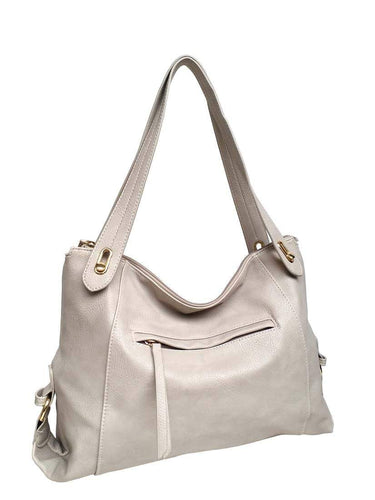 U at Home Classic Shoulder Bag- Light Grey
