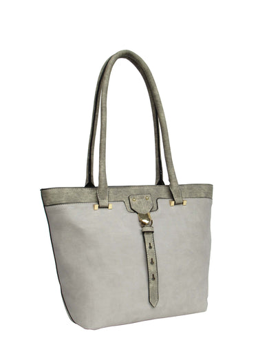 U at Home Classic Tote Bag- Light Grey