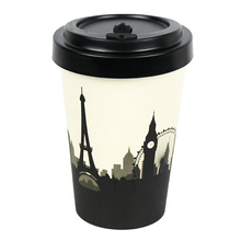 Load image into Gallery viewer, U at Home Cosmopolitan Bamboo Coffee Cup 400ml Various Patterns