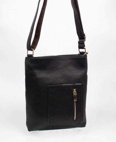 U at Home Cross Body Pocket Satchel-Black