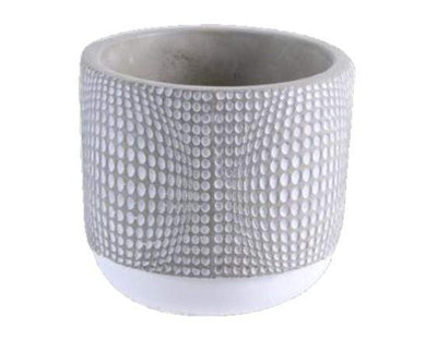 U at Home Dots-Cement Flower Pot