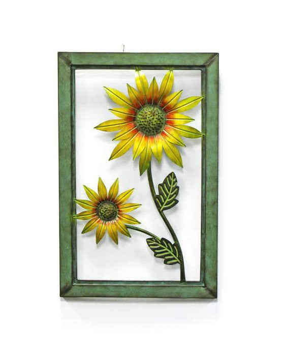 U at Home Green Framed Metal Sunflower
