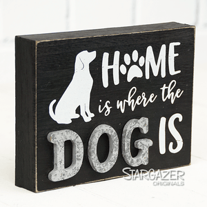 "U at Home Home Dog Paw 8"" x 6"""