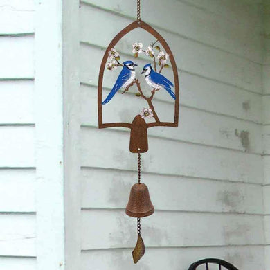 U at Home Laser Cut Hanging Bell with Blue Jays