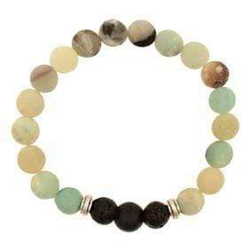 U at Home Lava bead bracelet with mixed amazonite stone