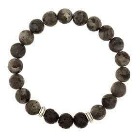 U at Home Lava Beads with Black Obsidian Stones