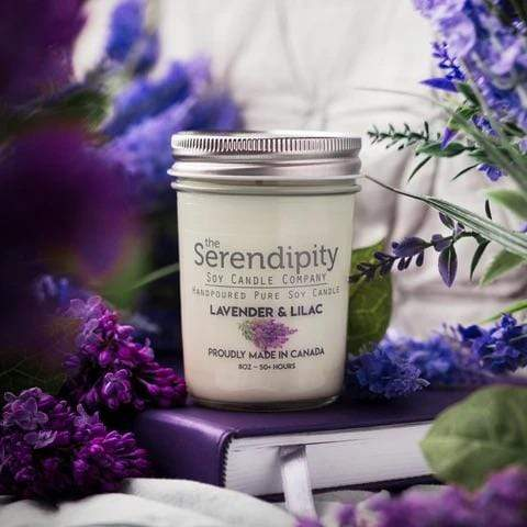 U at Home Lavender & Lilac- Serendipity 8oz Jar Candle