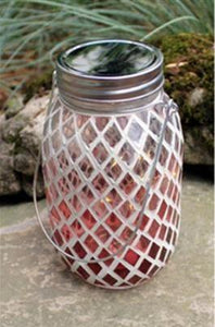 U at Home LED MOSAIC JAR- Red