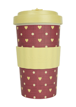 Load image into Gallery viewer, U at Home Love Beige Bamboo Coffee Cup 500ml- Various Patterns