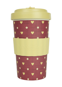 U at Home Love Beige Bamboo Coffee Cup 500ml- Various Patterns