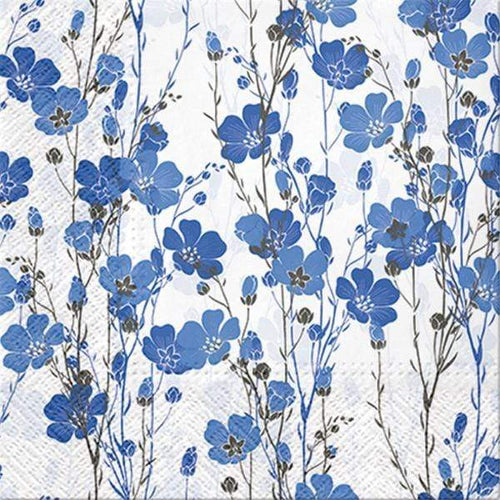 U at Home Lunch napkin - blue flax plant