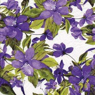 U at Home Lunch napkin - purple flowers
