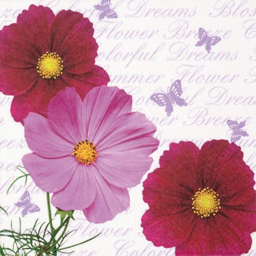 U at Home Lunch napkins - cosmos & butterflies