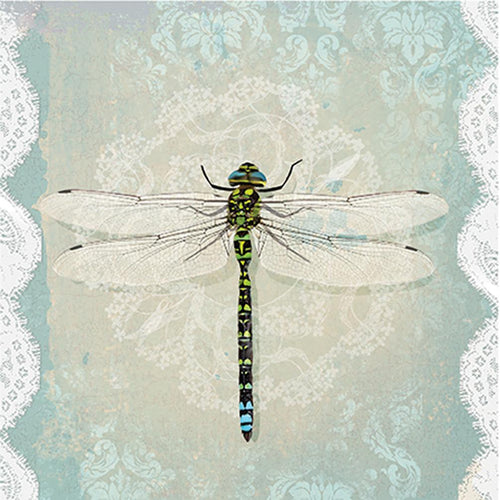 U at Home Luncheon Lace Dragonfly Napkins