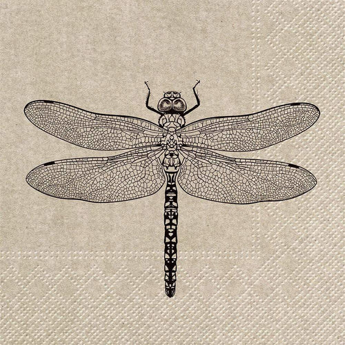 U at Home Luncheon We Care Dragonfly Napkins. 20 Pack