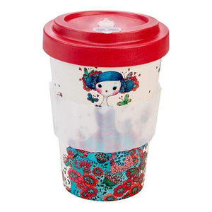 U at Home Macaron Bamboo Coffee Cup 400ml Various Patterns
