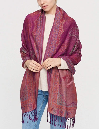 U at Home Magenta/Fuchsia Tree pattern pashmina