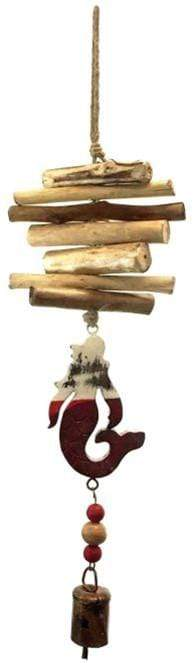 U at Home Mermaid Vintage White & Red- Driftwood Bell Chime
