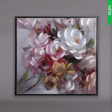 U at Home OIL PAINTING FLOWER+FRAME