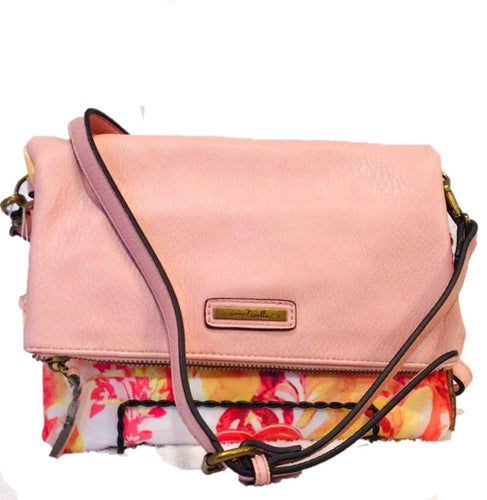 U at Home Paradise Canvas Foldover Clutch- Blush