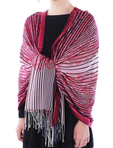 U at Home Pashmina-Red/Burgundy