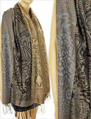 U at Home Pashmina-Taupe/Black