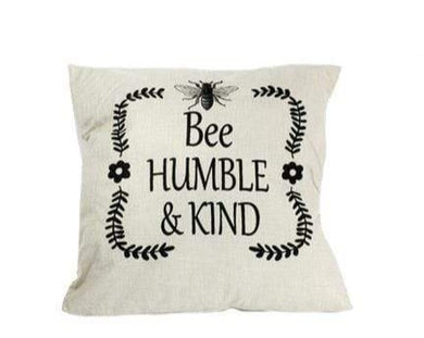 U at Home Pillow- Bee Humble & Kind