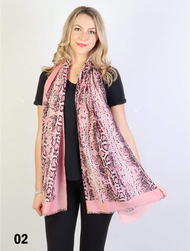 U at Home Pink-Fashion Snake Skin Print Fashion Scarf
