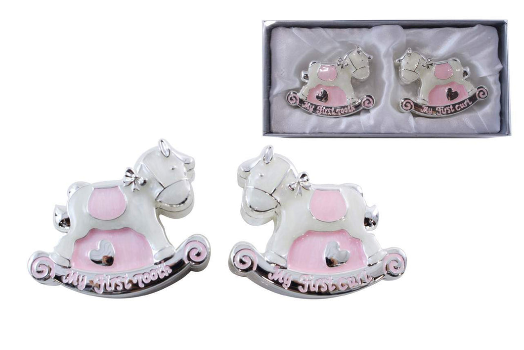 U at Home Pink Rocking Horse First Tooth/Curl