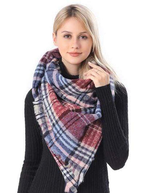 U at Home Plaid Blanket Scarf