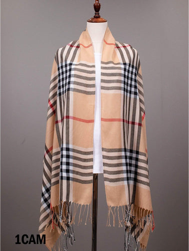U at Home Plaid Patterned Pashmina Scarf