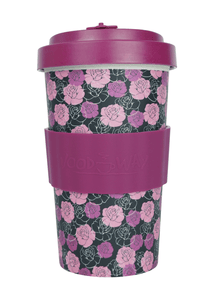 U at Home Roses Bamboo Coffee Cup 500ml- Various Patterns