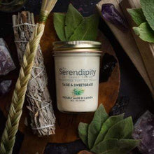 Load image into Gallery viewer, U at Home Sage & Sweetgrass Serendipity 8oz Jar Candle
