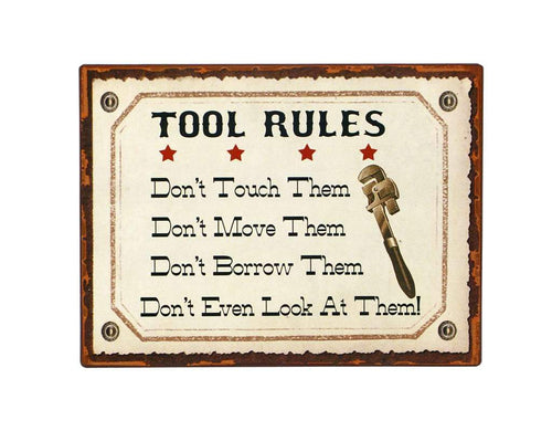 U at Home Tool Rules Sign