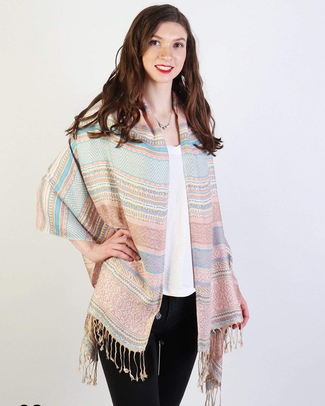 U at Home Tribal Fringe Scarf