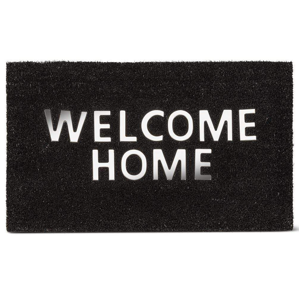"U at Home Urban ""Welcome Home"" Doormat PVC Back (18"