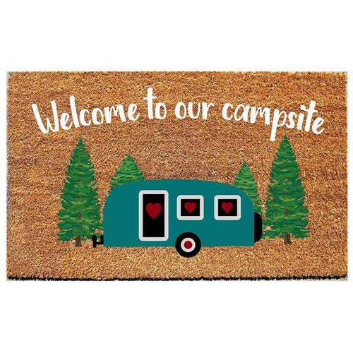 U at Home Welcome to our Campsite Doormat