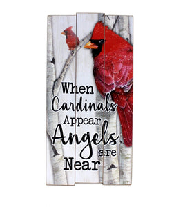 U at Home When Cardinals Appear- Plaque