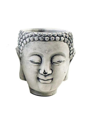 U at Home White Cement Buddha Head Pots