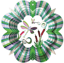 Load image into Gallery viewer, U at Home Wind Spinner-Small Green/Purple Dragonfly