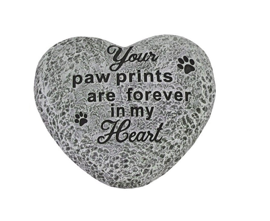 U at Home Your Paw Prints Are Forever in My Heart- Heart Stone