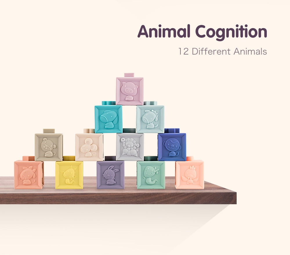 Educational Silicone Stacking Cubes