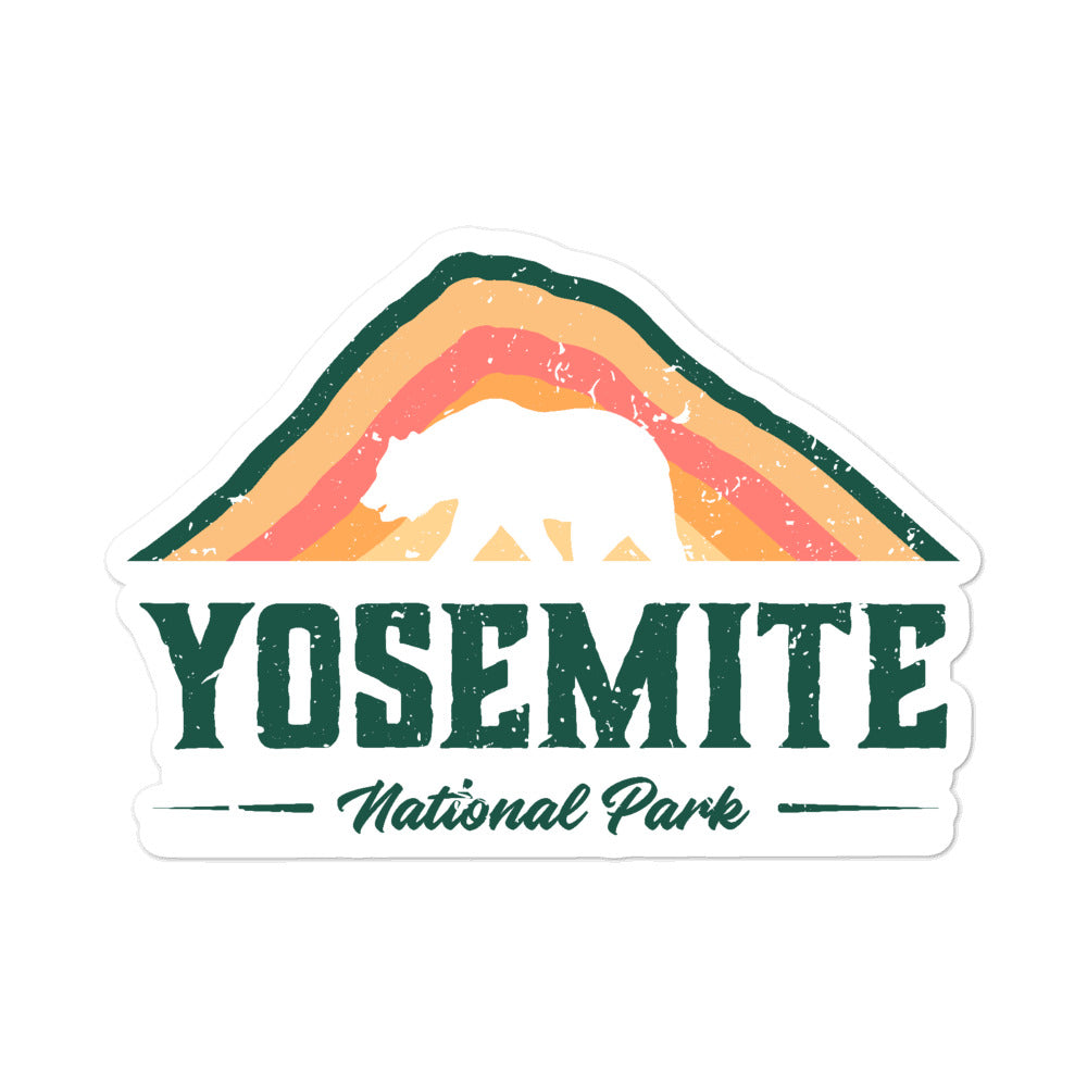Yosemite National Park Vintage Sticker