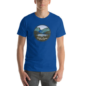 Rocky Mountain National Park Retro Short-Sleeve Unisex T-Shirt