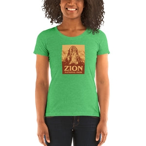 Zion National Park Retro Ladies' short sleeve t-shirt